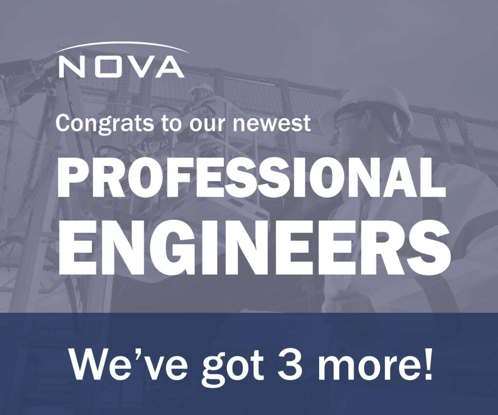 Graphic of NOVA welcoming new hires
