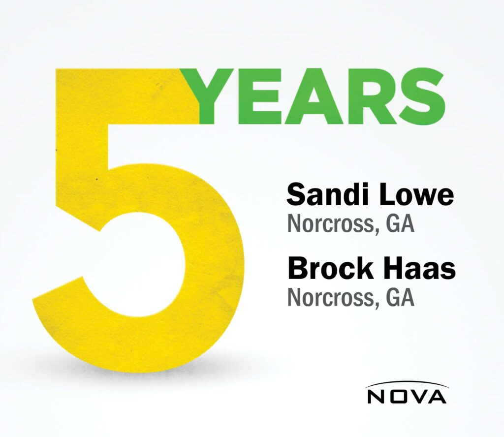5 year graphic to congratulate employees on 5 years